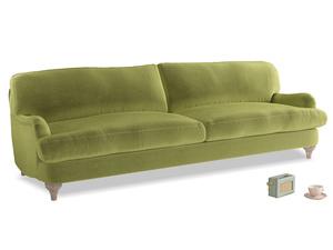 Extra large Jonesy Sofa in Light Olive Plush Velvet