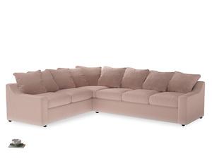 Xl Left Hand Cloud Corner Sofa in Dried Plaster Clever Velvet