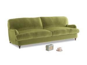 Large Jonesy Sofa in Light Olive Plush Velvet