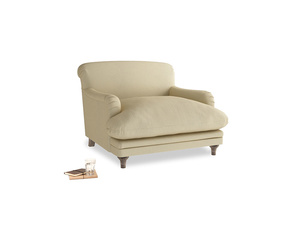 Pudding Love seat in Parchment Clever Linen