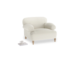 Oat Brushed Cotton Easy Peasy Armchair