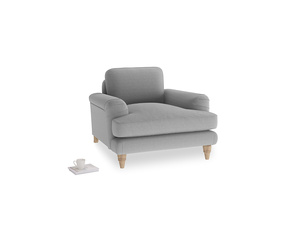 Cinema Armchair in Magnesium washed cotton linen