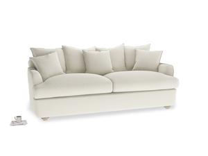 Oat Brushed Cotton Smooch Sofa Bed LA