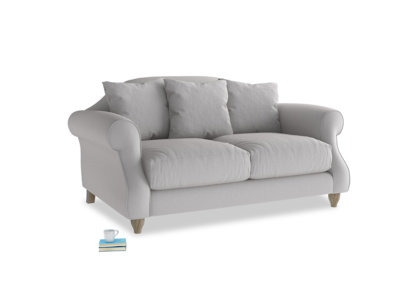 Small Sloucher Sofa in Flint brushed cotton