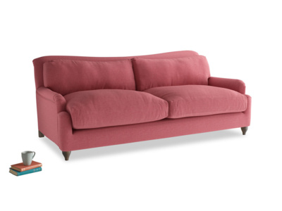 Large Pavlova Sofa in Raspberry brushed cotton