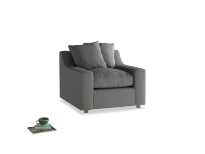 Cloud Armchair in French Grey brushed cotton