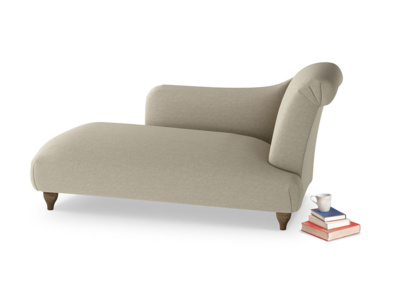 Right Hand Brontë Chaise Longue in Jute vintage linen