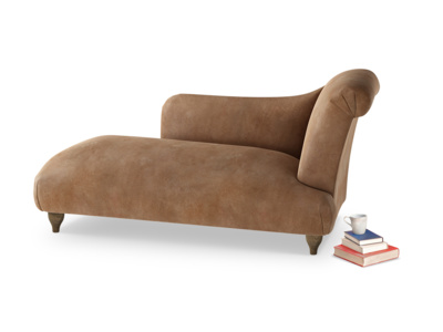 Right Hand Brontë Chaise Longue in Walnut beaten leather