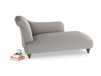 Left Hand Brontë Chaise Longue in Wolf brushed cotton