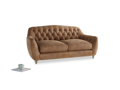 Medium Butterbump Sofa in Walnut beaten leather