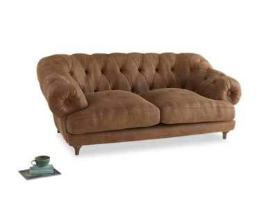 Medium Bagsie Sofa in Walnut beaten leather
