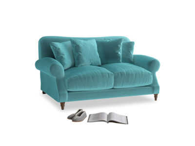 Small Crumpet Sofa in Belize clever velvet