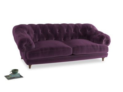 Large Bagsie Sofa in Grape clever velvet
