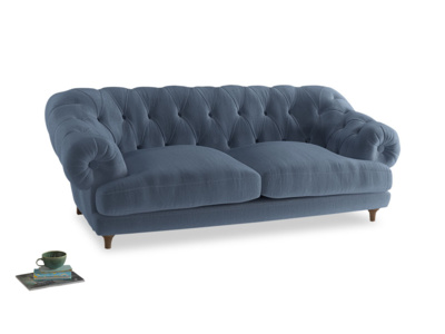 Large Bagsie Sofa in Winter Sky clever velvet
