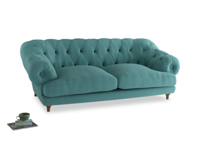 Large Bagsie Sofa in Peacock brushed cotton