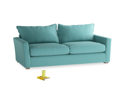 Large Pavilion Sofa Bed in Peacock brushed cotton