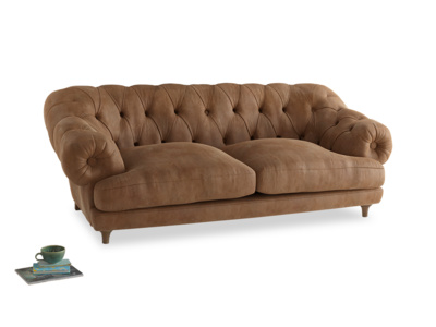 Large Bagsie Sofa in Walnut beaten leather