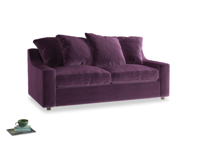Medium Cloud Sofa Bed in Grape clever velvet