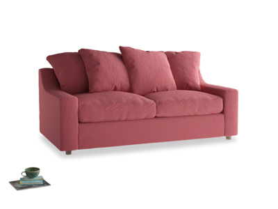 Medium Cloud Sofa Bed in Raspberry brushed cotton