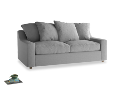 Medium Cloud Sofa Bed in Magnesium washed cotton linen