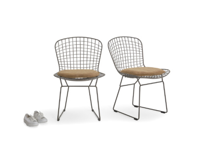 Pair of Hamburger In Tan kitchen chairs