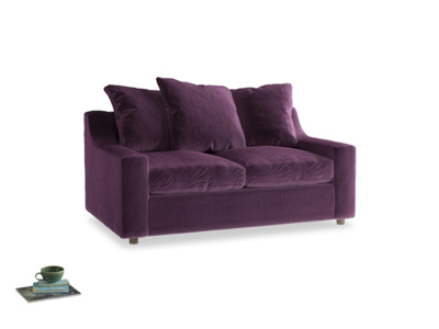 Small Cloud Sofa in Grape clever velvet