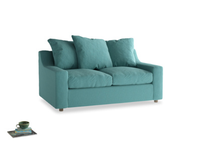 Small Cloud Sofa in Peacock brushed cotton