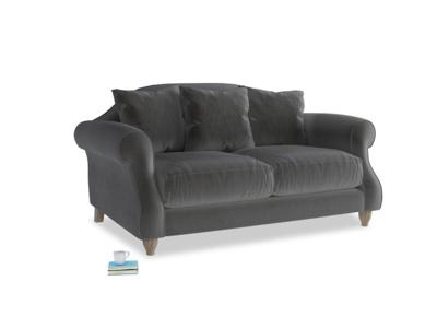 Small Sloucher Sofa in Steel clever velvet