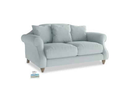 Small Sloucher Sofa in Duck Egg vintage linen