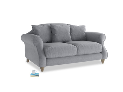 Small Sloucher Sofa in Dove grey wool