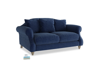 Small Sloucher Sofa in Ink Blue wool