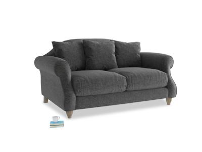 Small Sloucher Sofa in Shadow Grey wool