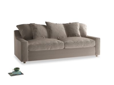 Large Cloud Sofa in Fawn clever velvet