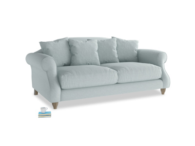 Medium Sloucher Sofa in Duck Egg vintage linen