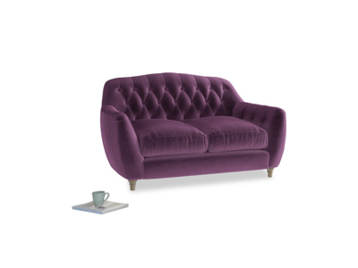 Small Butterbump Sofa in Grape clever velvet