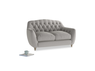 Small Butterbump Sofa in Wolf brushed cotton
