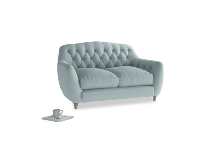 Small Butterbump Sofa in Smoke blue brushed cotton