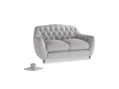 Small Butterbump Sofa in Flint brushed cotton