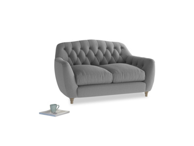 Small Butterbump Sofa in Gun Metal brushed cotton
