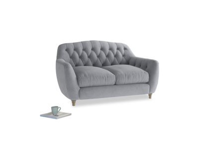 Small Butterbump Sofa in Dove grey wool