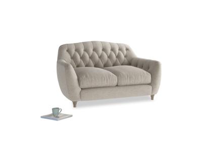 Small Butterbump Sofa in Birch wool