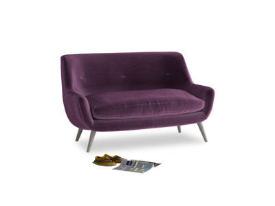 Small Berlin Sofa in Grape clever velvet