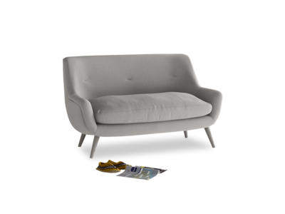 Small Berlin Sofa in Wolf brushed cotton