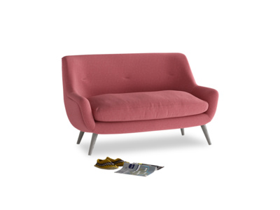 Small Berlin Sofa in Raspberry brushed cotton