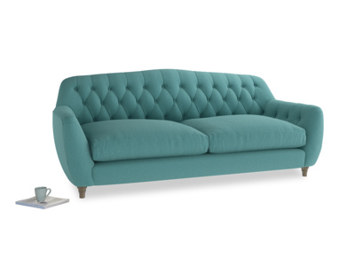 Large Butterbump Sofa in Peacock brushed cotton