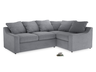 Large Right Hand Cloud Corner Sofa in Dove grey wool