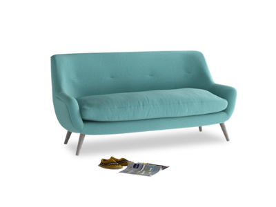 Medium Berlin Sofa in Peacock brushed cotton