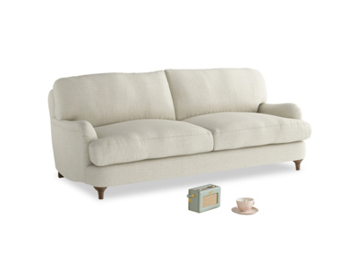 Medium Jonesy Sofa in Ecru Classic Linen