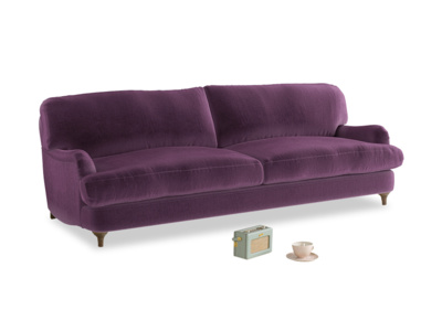 Large Jonesy Sofa in Grape clever velvet
