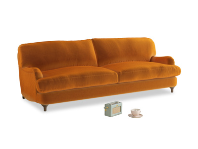 Large Jonesy Sofa in Spiced Orange clever velvet